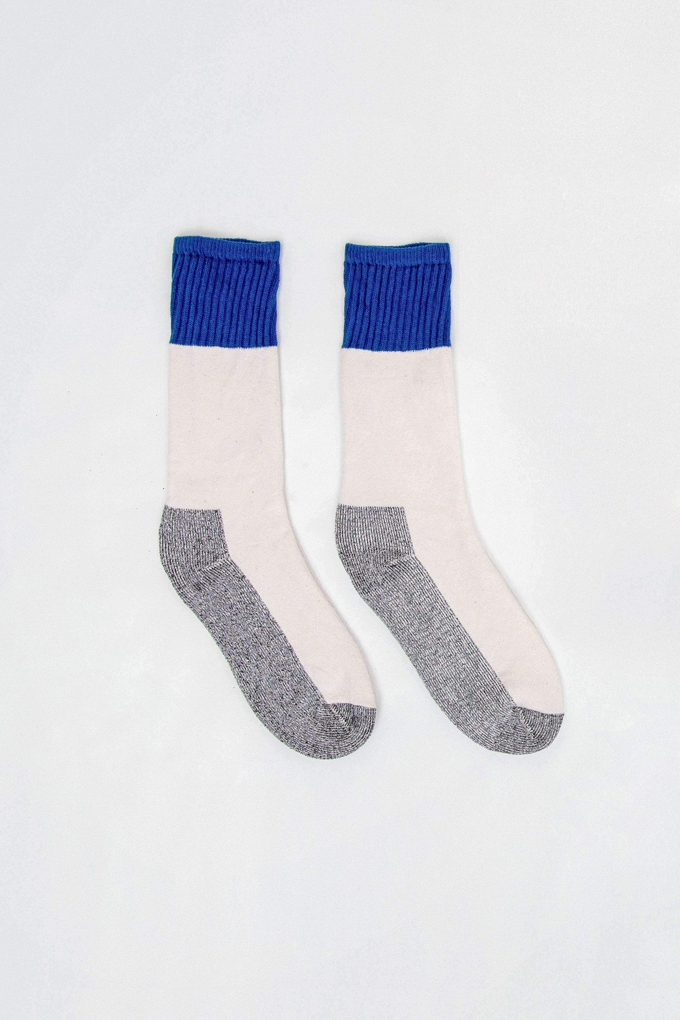 CBLKSOCK - Color Block Boot Sock Socks Los Angeles Apparel ROYAL OS