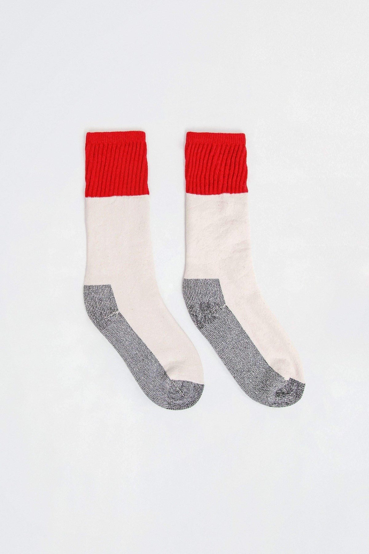 CBLKSOCK - Color Block Boot Sock Socks Los Angeles Apparel RED OS