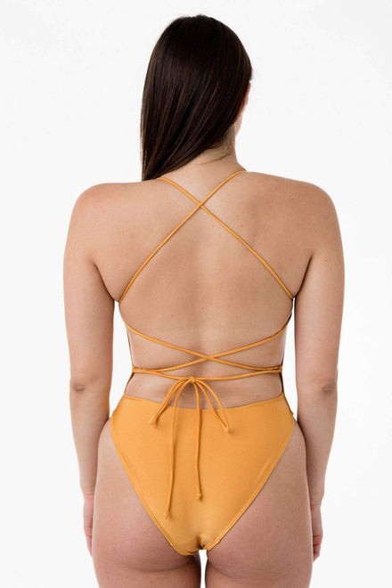 RNT105 - Tie-Back Bathing Suit Swim Los Angeles Apparel