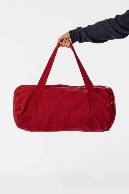 BD04 - Bull Denim Diagonal Strap Gym Bag Bags Los Angeles Apparel Dark Red