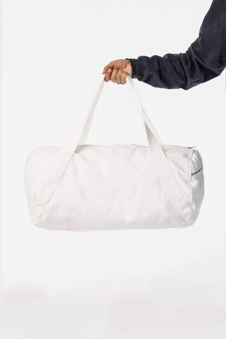 BD04 - Bull Denim Diagonal Strap Gym Bag Bags Los Angeles Apparel Off-White