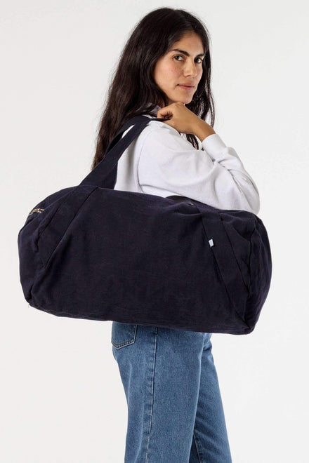 BD04 - Bull Denim Diagonal Strap Gym Bag Bags Los Angeles Apparel Navy