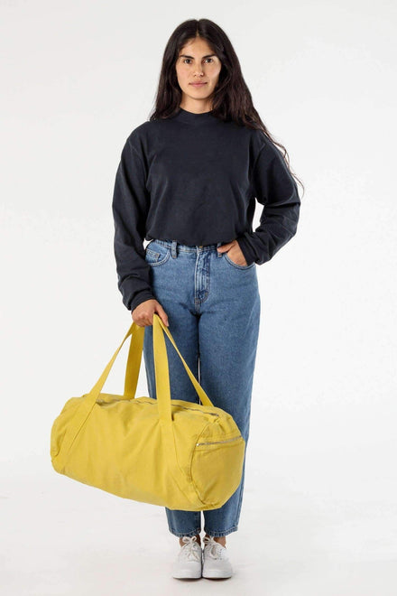 BD04 - Bull Denim Diagonal Strap Gym Bag Bags Los Angeles Apparel Spectra Yellow