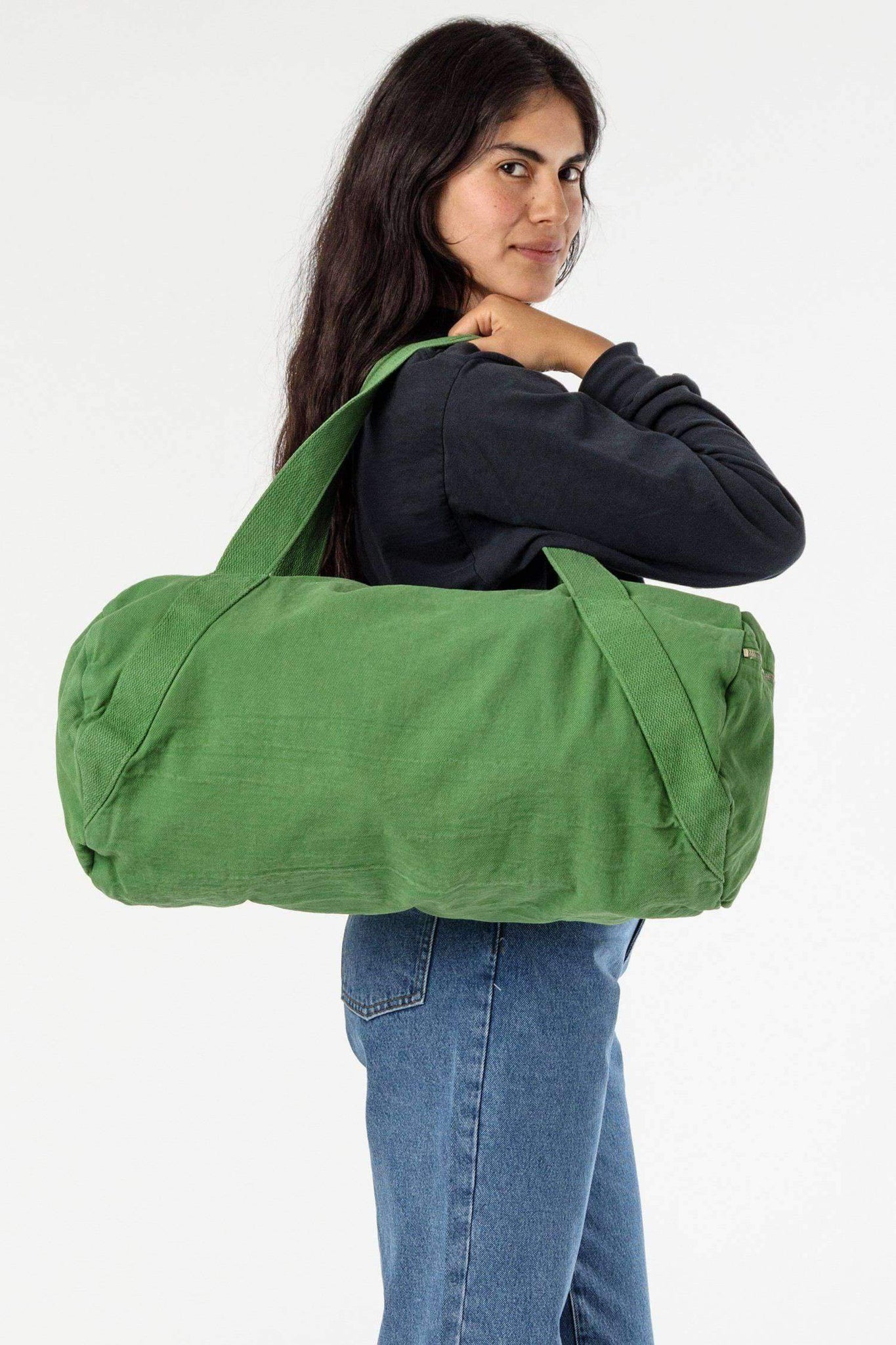BD04 - Bull Denim Diagonal Strap Gym Bag Bags Los Angeles Apparel Vintage Green