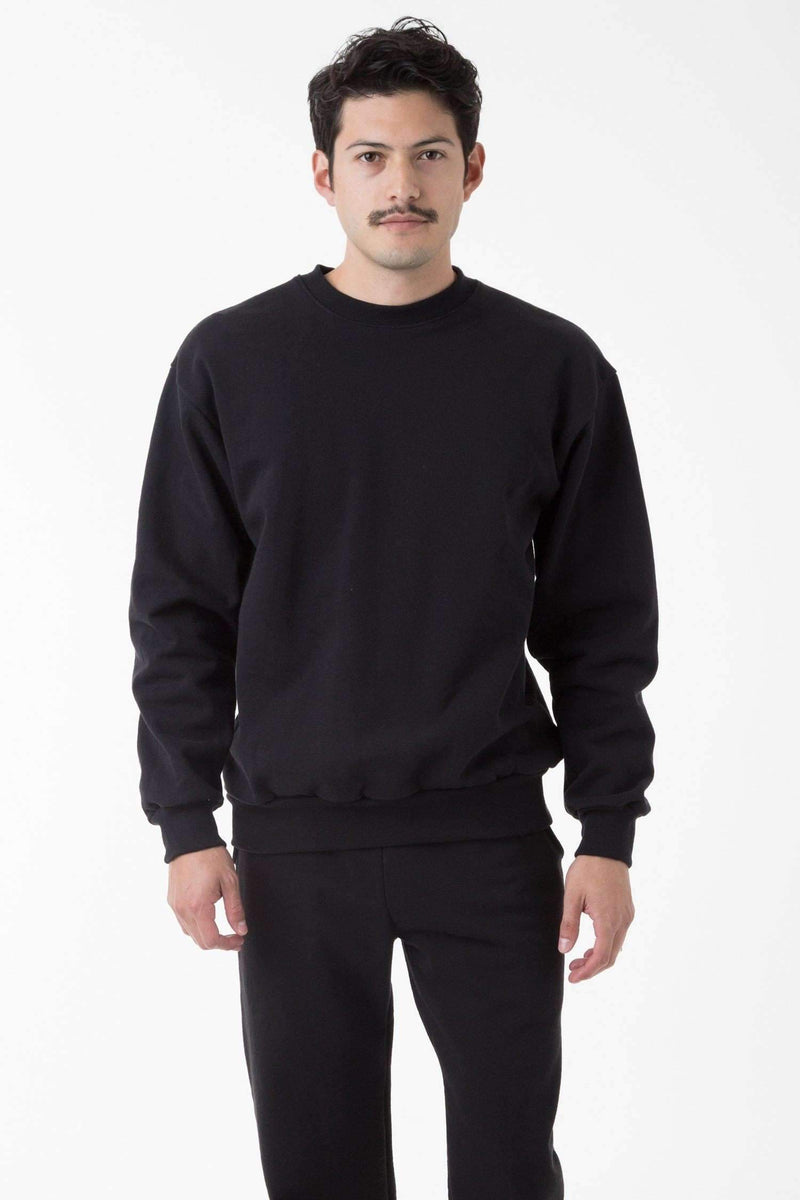 HF07 - 14oz. Heavy Fleece Pullover Crewneck Sweatshirt Sweatshirt Los Angeles Apparel