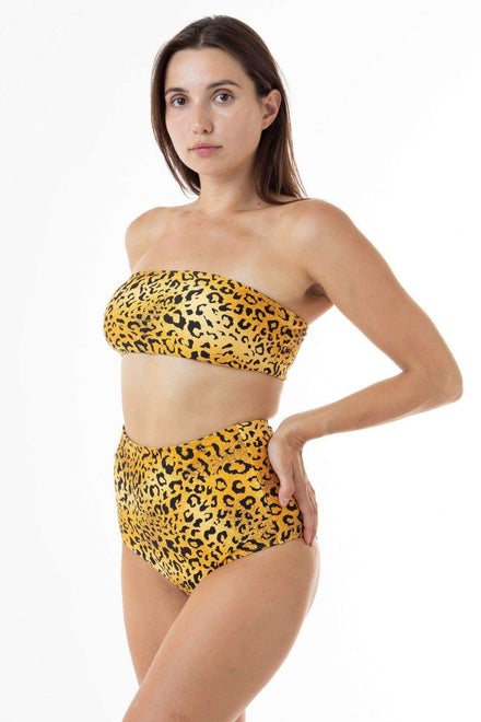 RNT8393 - Tube Bikini Top Swim Los Angeles Apparel Leopard XS