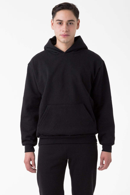 HF09 - 14oz. Heavy Fleece Hooded Pullover Sweatshirt Sweatshirt Los Angeles Apparel Black XS