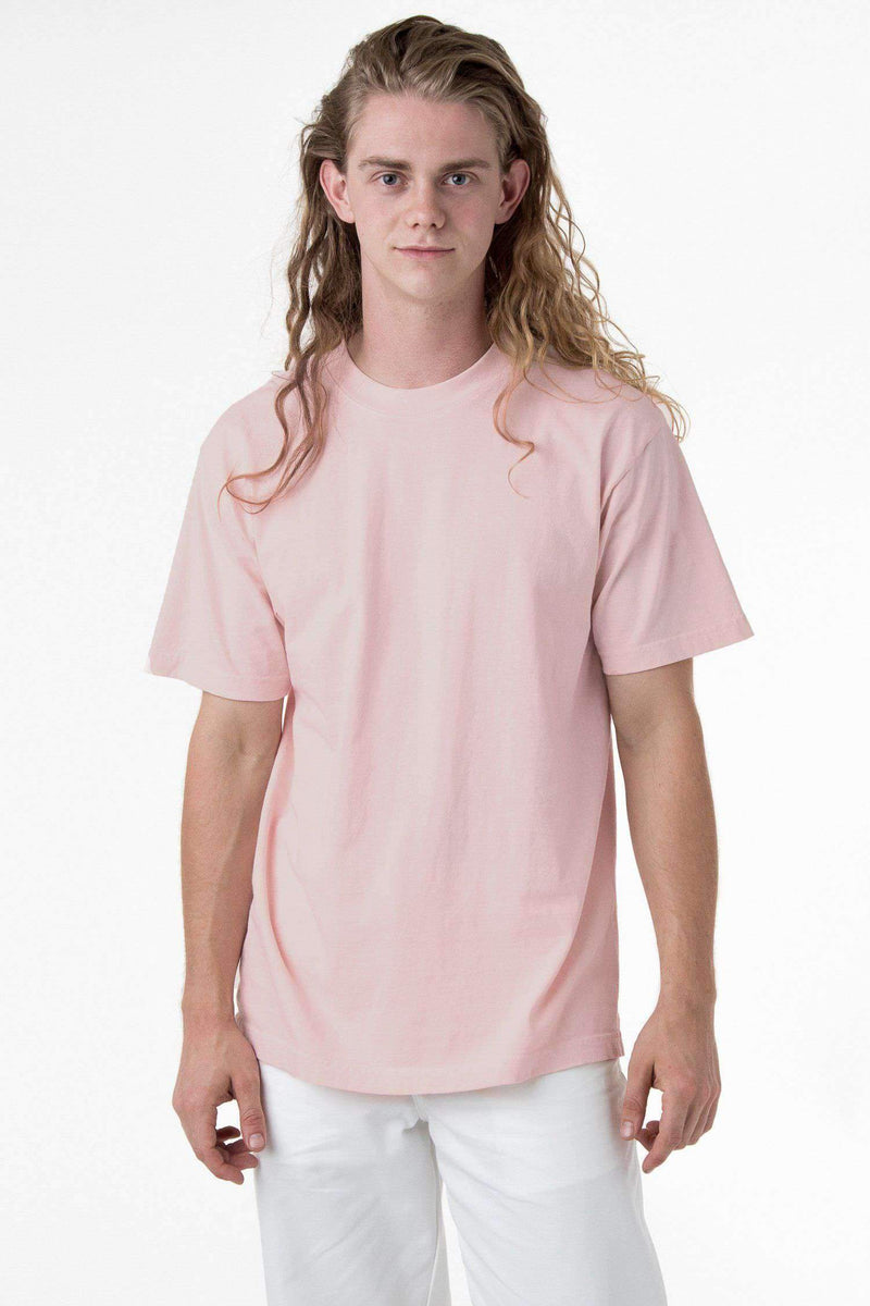 1801GD - 6.5oz Garment Dye Pastel Crew Neck T-Shirt T-Shirt Los Angeles Apparel Light Pink S