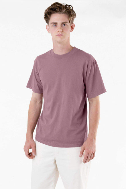 1801GD - 6.5oz Garment Dye Pastel Crew Neck T-Shirt T-Shirt Los Angeles Apparel Mauve XS