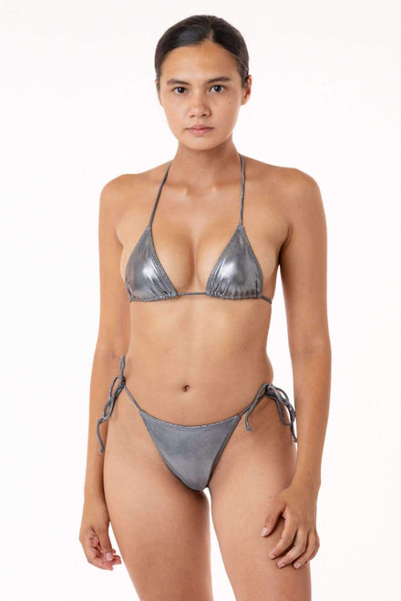 RMH3004 - Shiny Matrix String Bikini Bottom Los Angeles Apparel
