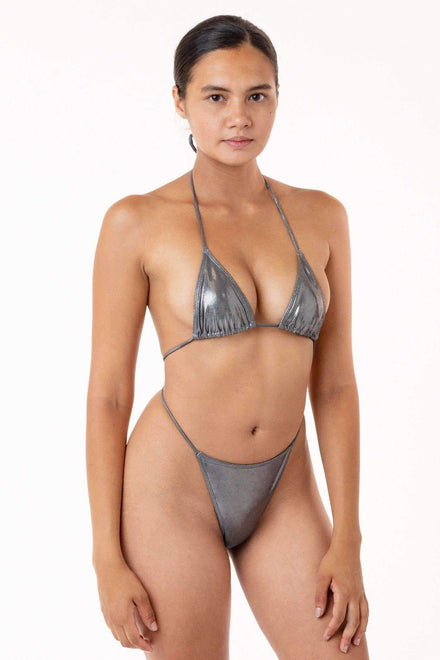 RMH3003 - Shiny Matrix String Bikini Top Swim Los Angeles Apparel