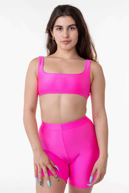 RNT3005 - Square Neck Bikini Top Los Angeles Apparel Neon Pink XS