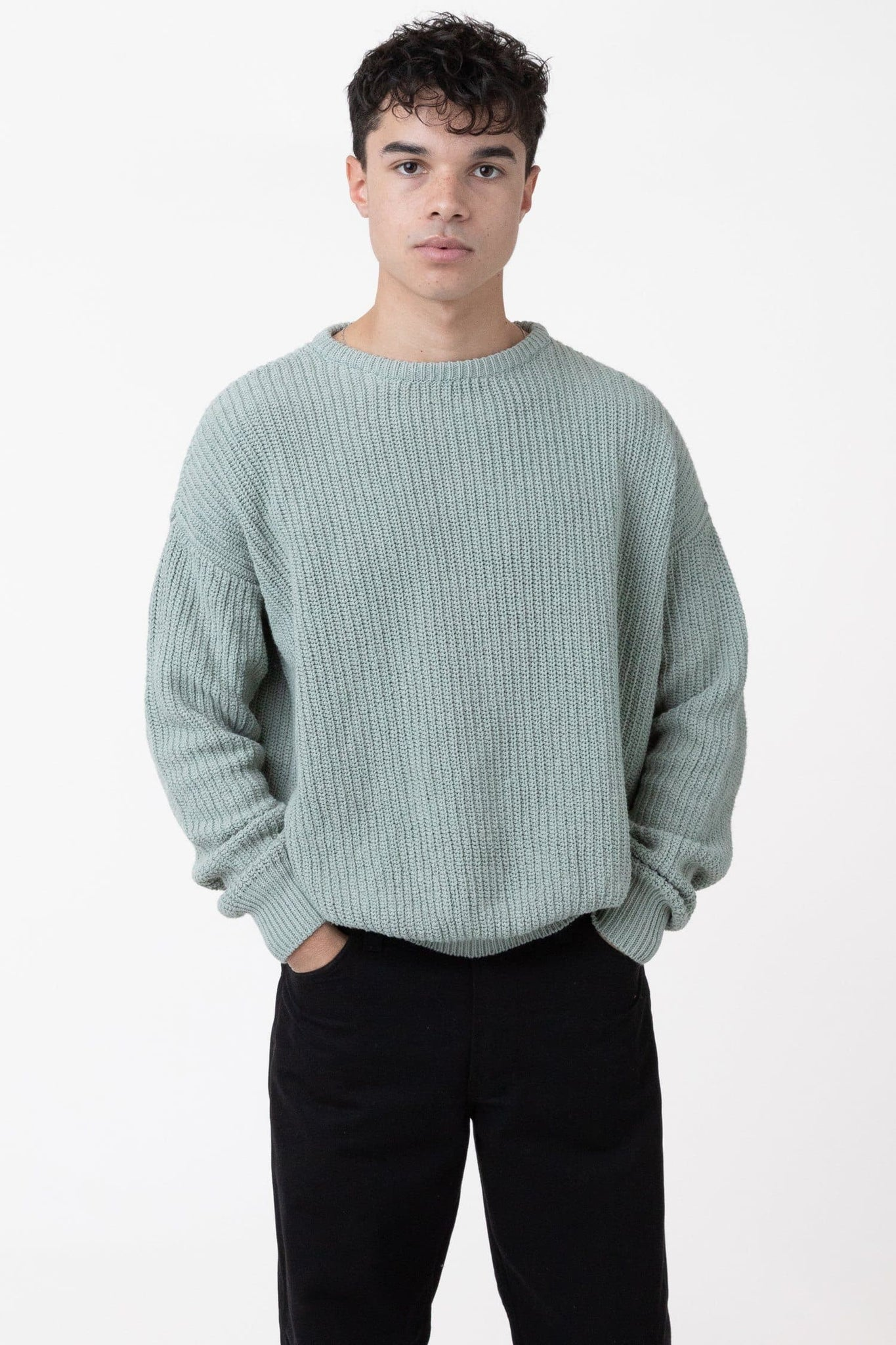 FMP01 - Unisex Fisherman Pullover sweater Los Angeles Apparel Sage XS