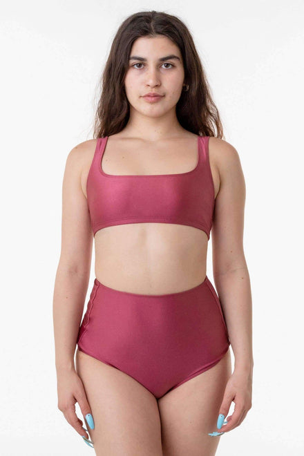 RNT3005 - Square Neck Bikini Top Los Angeles Apparel Sangria XS