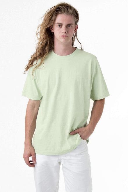 1801GD - 6.5oz Garment Dye Pastel Crew Neck T-Shirt T-Shirt Los Angeles Apparel Seafoam S