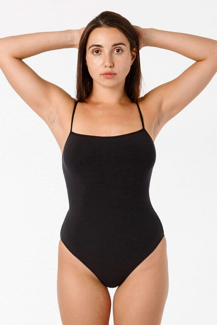 B100CF - Spaghetti Bodysuit Bodysuits Los Angeles Apparel Black XS