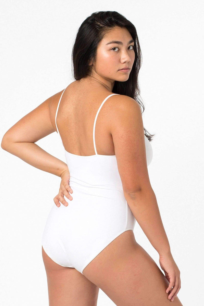 B100CF - Spaghetti Bodysuit Bodysuits Los Angeles Apparel White XS
