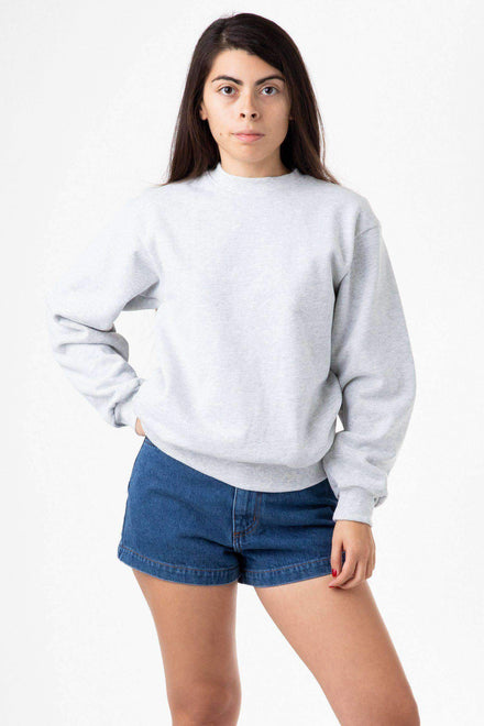 HF07 Mix - 14oz. Heavy Fleece Pullover Crewneck Sweatshirt Sweatshirt Los Angeles Apparel