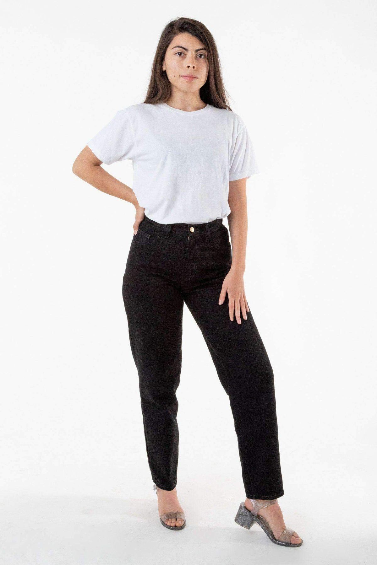 RDNW01 - Women's Relaxed Fit Jeans Black Jeans Los Angeles Apparel Black 24/28