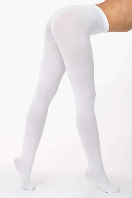 RN331 - Super Opaque Dance Tights hosiery Los Angeles Apparel White OS