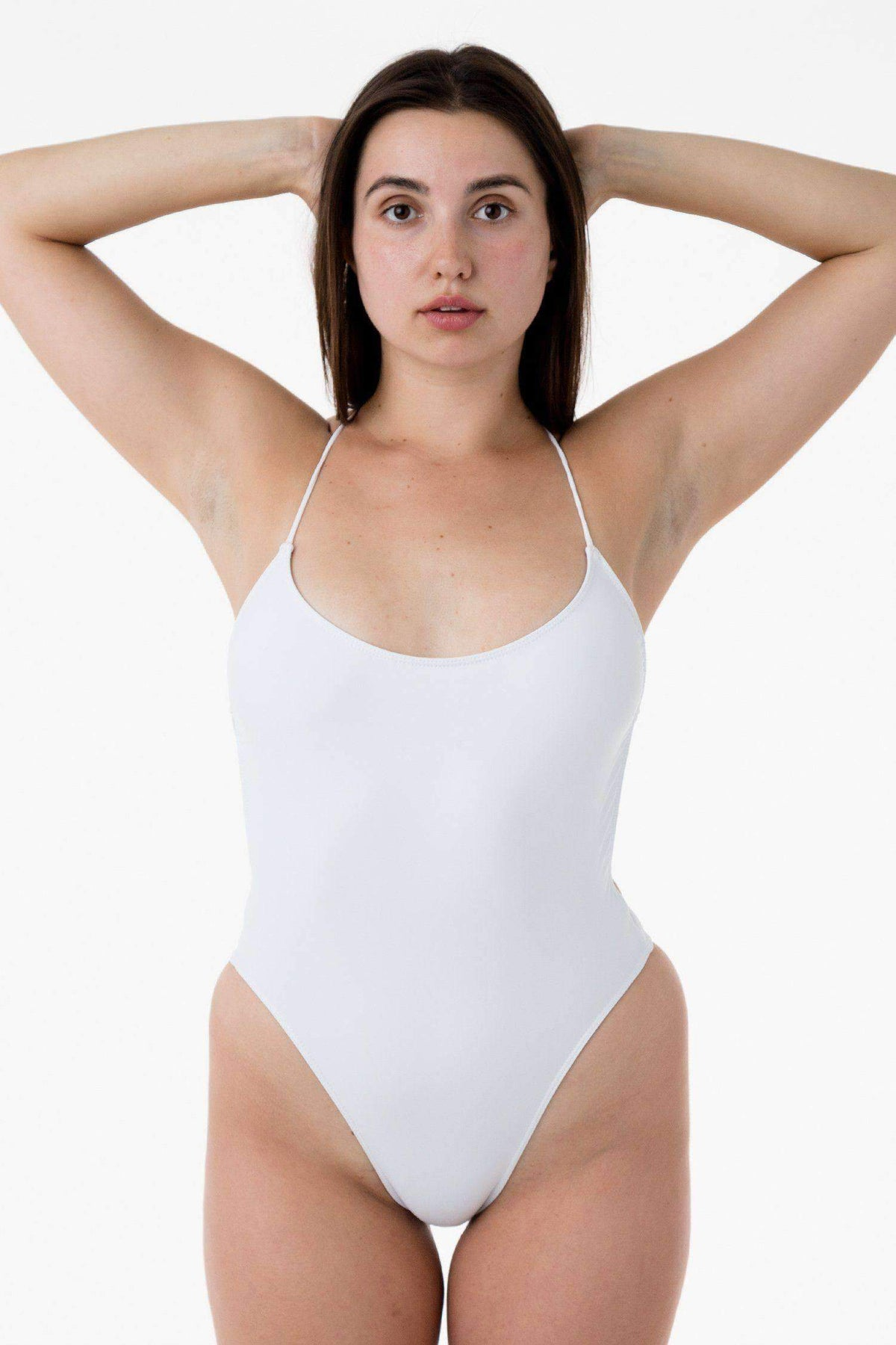 RNT105 - Tie-Back Bathing Suit Swim Los Angeles Apparel Matte White XS