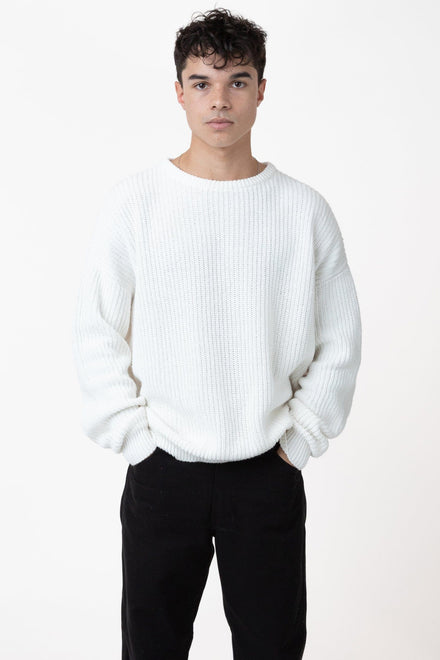 FMP01 - Unisex Fisherman Pullover sweater Los Angeles Apparel White XS