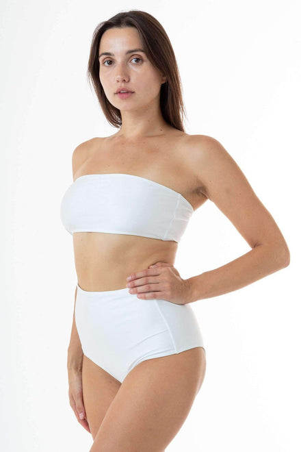 RNT8393 - Tube Bikini Top Swim Los Angeles Apparel White XS