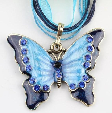 Retro Butterfly Necklace