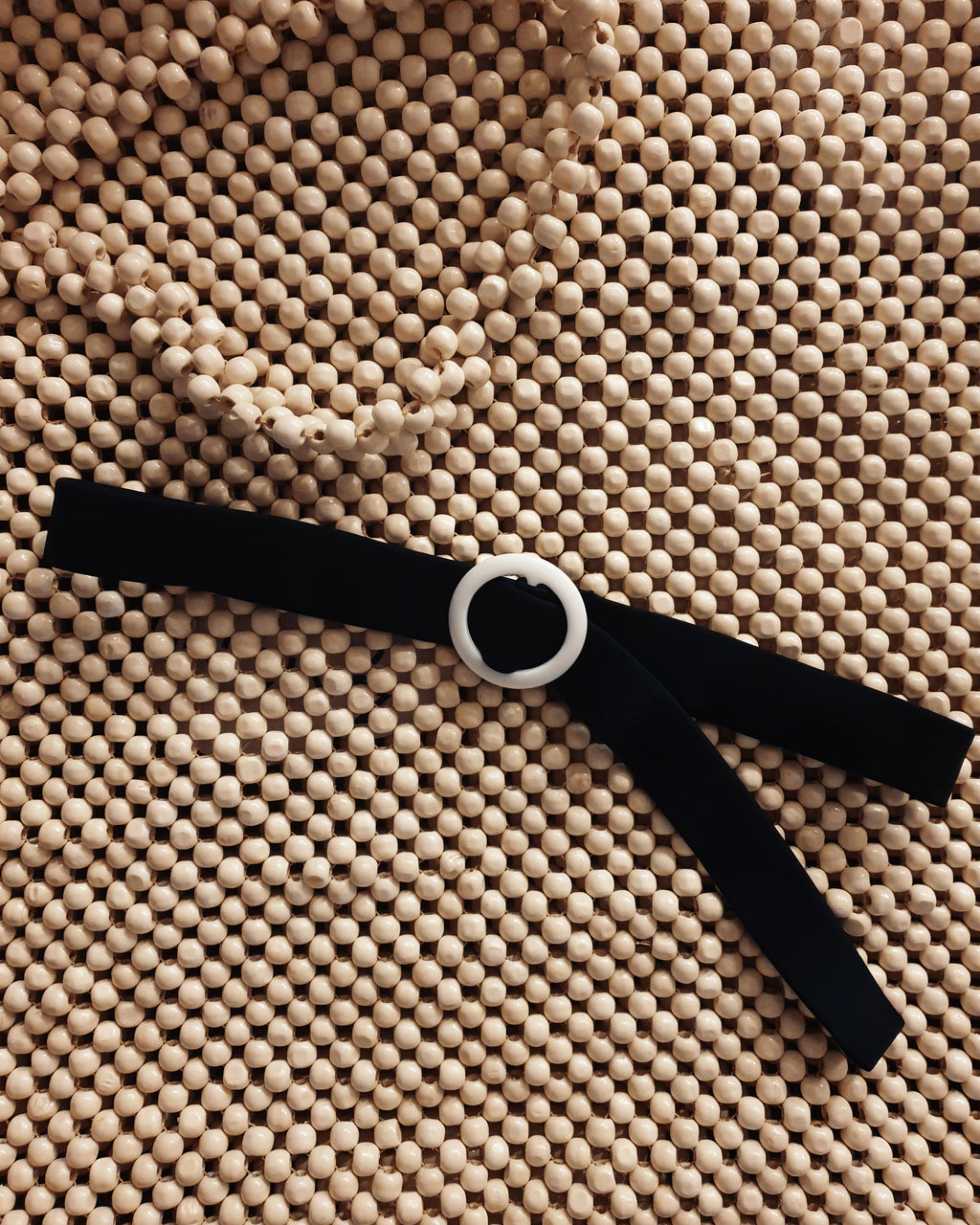 Circle Buckle Swim Belt ~ Black