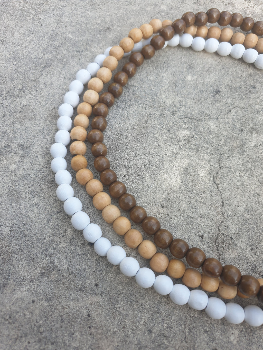 SET OF 3 ~ Koko Wooden Beaded Necklace