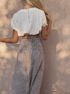 Marlo Maxi Skirt/Dress ~ Chocolate Gingham