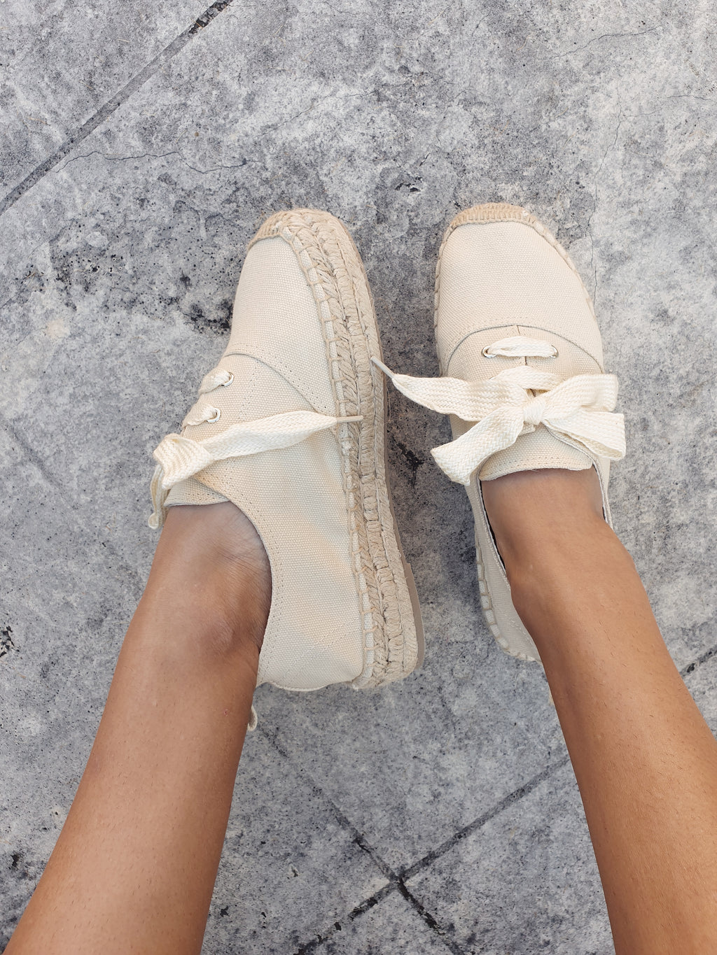 Lacey Espadrille Sneakers ~ Beige