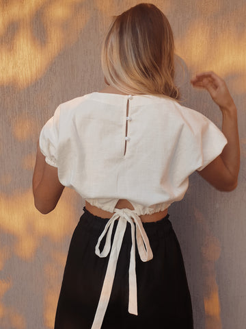 Alba Crop Top ~ Black