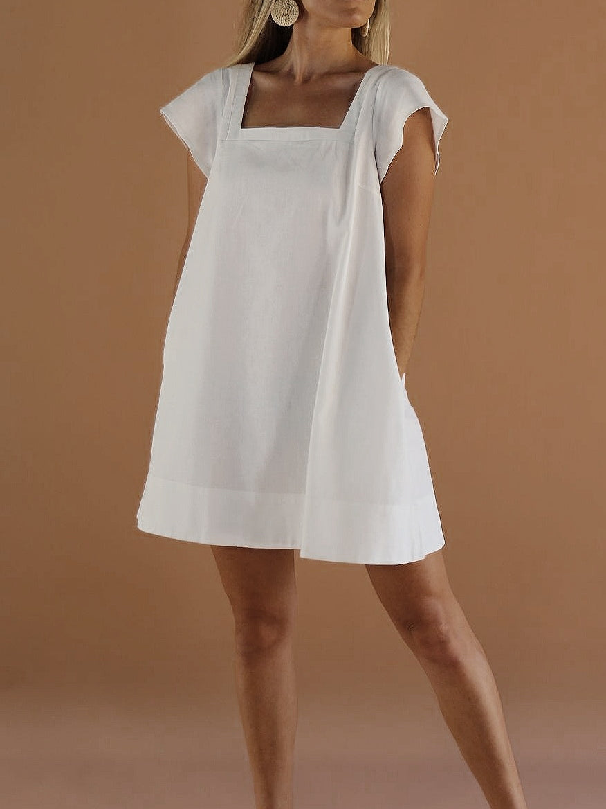 PRE-ORDER ~ Alba Mini Dress ~ White