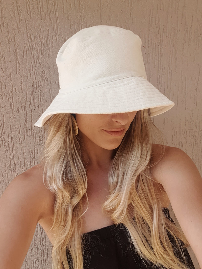 Monti Bucket Hat ~ Speckled Ivory