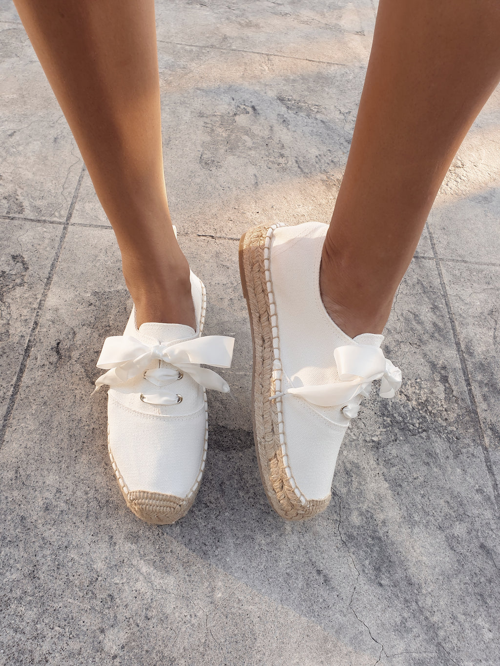 Lacey Espadrille Sneakers ~ White