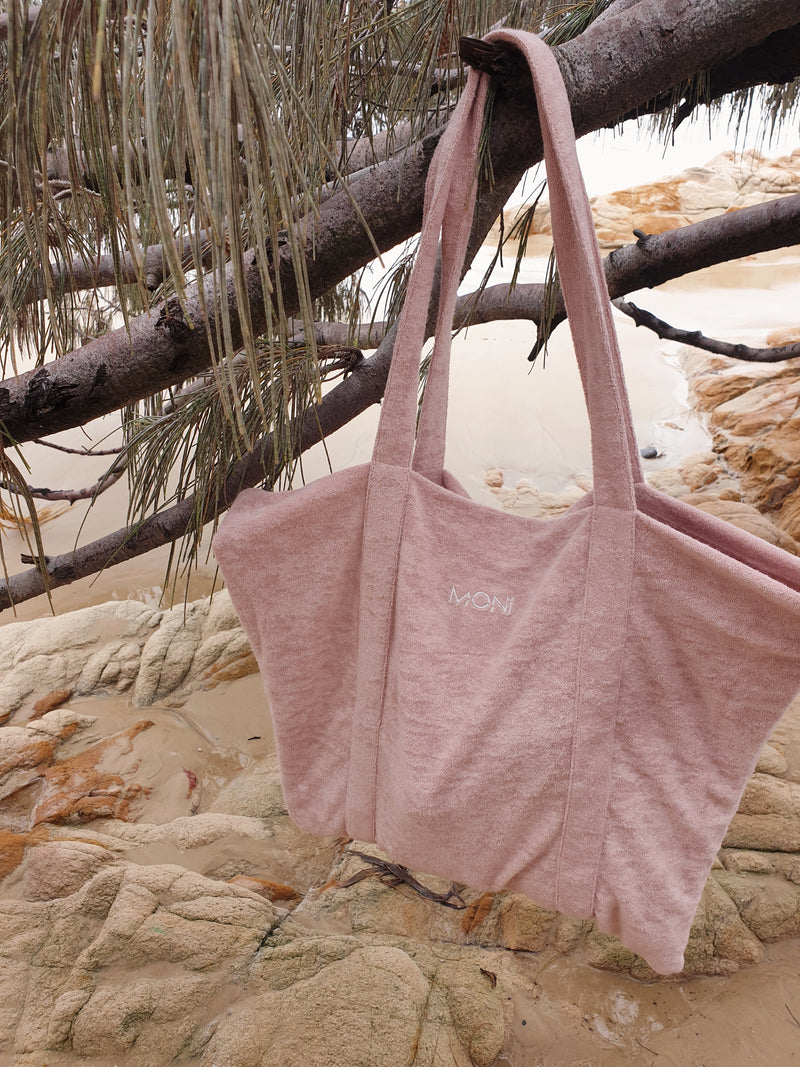 Moni Terry Beach Tote - Dusty Pink