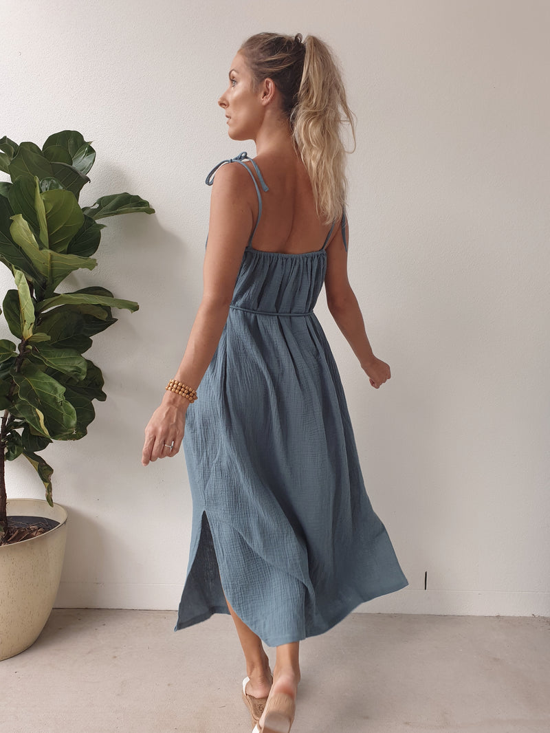 Yara Maxi Dress ~ Teal