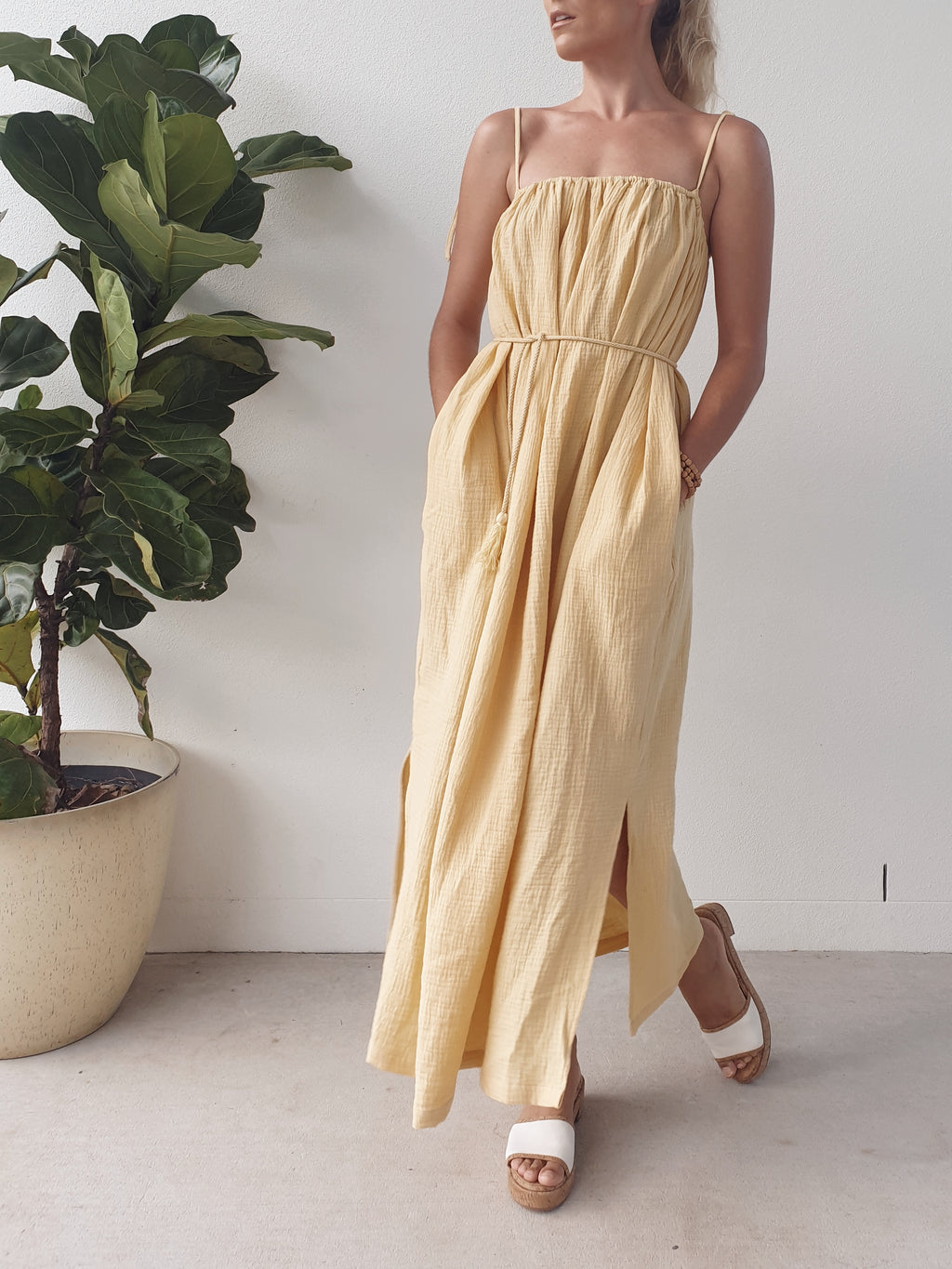 Yara Maxi Dress ~ Lemon