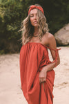 Yara Maxi Dress ~ Rust