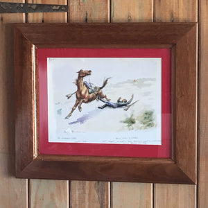 The Riderless Horse & The Ambushed Picket - Frederic Remington (Red)