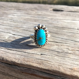 New to the Roxy West Boutique collection  Turquoise luxury custom-made especially for us by talented silver maker and turquoise collector Page Vidler in rural Roma Queensland.  We've handpicked the best of the Turquoise and designed a unique ring that's made be admired, worn and treasured for generations.