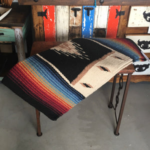 "Wool saddle rug - Tequila Sunrise 36""x 34"""