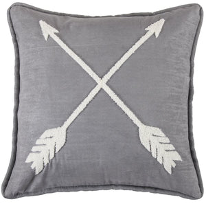 Free Spirit Arrow Cushion with waterfowl feathers