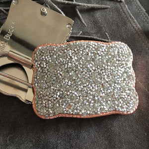 Wallet Buckle Silver RG crystal