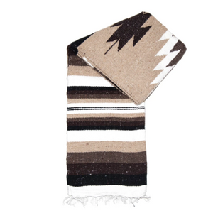Southwest Diamond Blanket - Brown and White