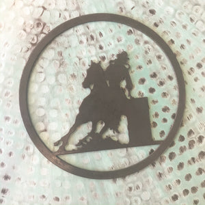 Steel Cutout - Barrel Racer