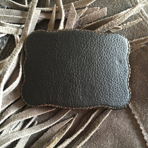 Wallet Buckle Black leather - for cowgirls and the cowboys