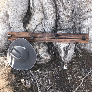 Rustic Reclaimed Wood Hat Rack - 4 nail 1M.
