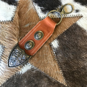 Squirrel Hill leather key ring